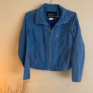 Kaelin light blue zip up jacket size x-small